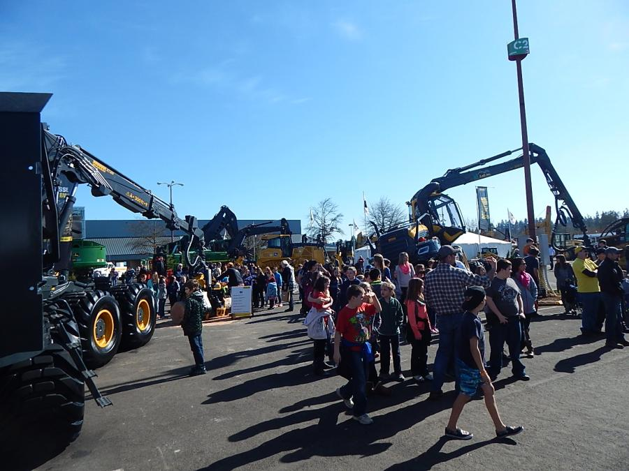 The crowd gathers for the 78th Annual Logging, Construction, Trucking and Heavy Equipment Expo.