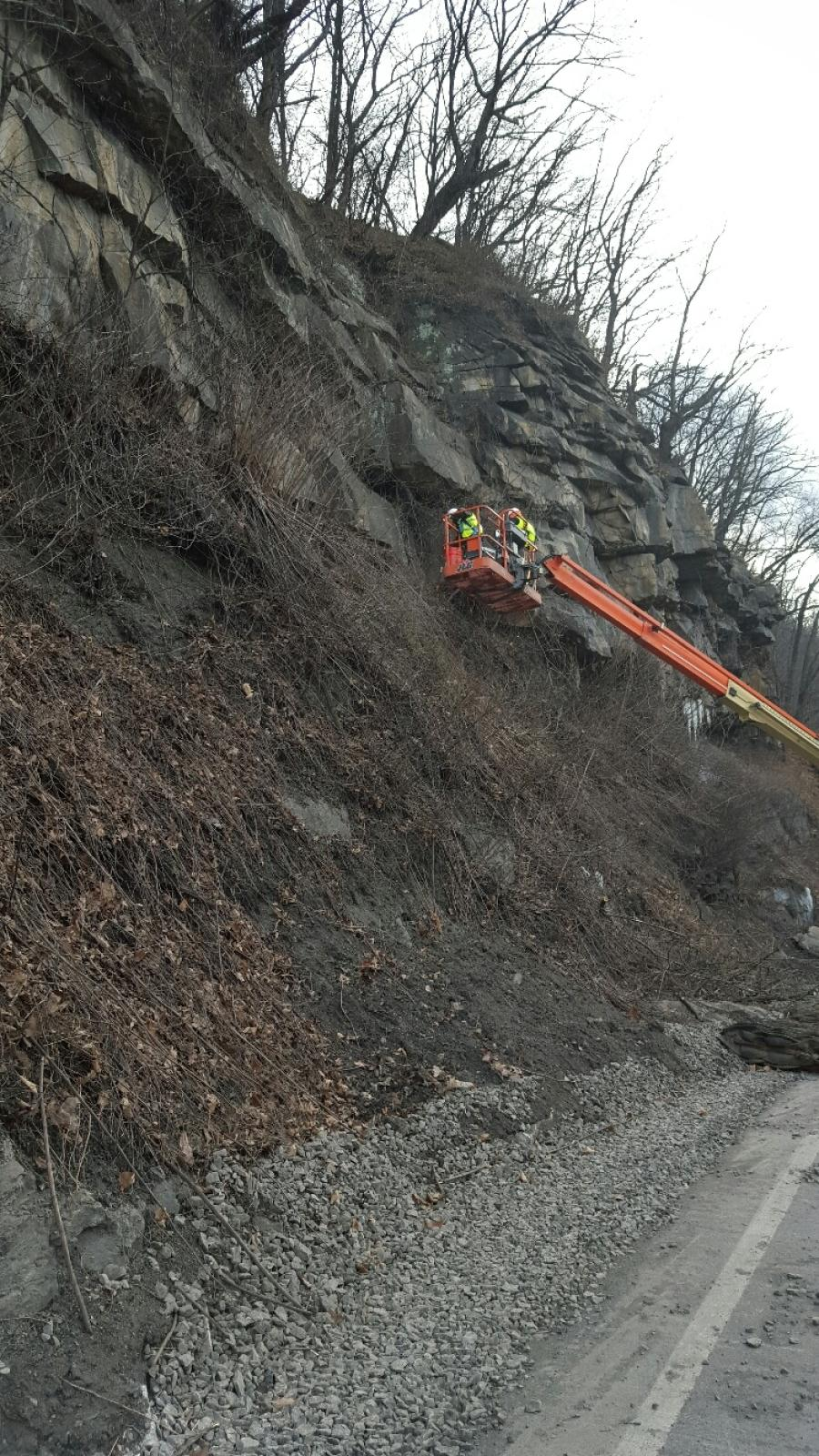 The SHA started a $2.7 million project to stabilize the rock face on Thursday, Jan. 28. The repair is expected to take up to 20 weeks, weather permitting.