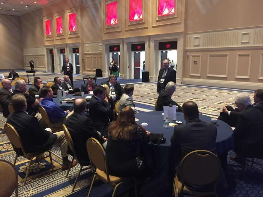Steve Johnson, VP of the AED Foundation, addresses a group of New Jersey dealers at the 2016 AED Summit.
