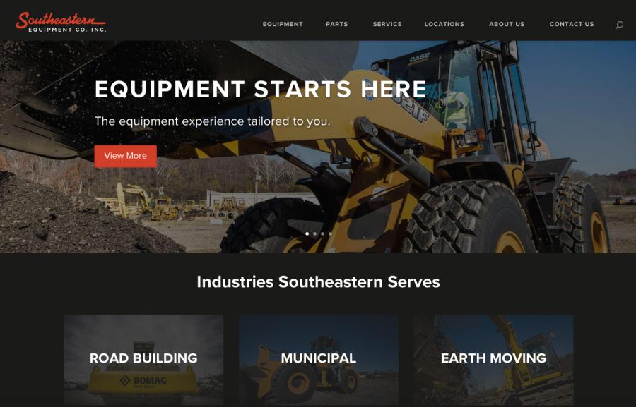 The new southeasternequip.com features refreshed design and streamlined content.