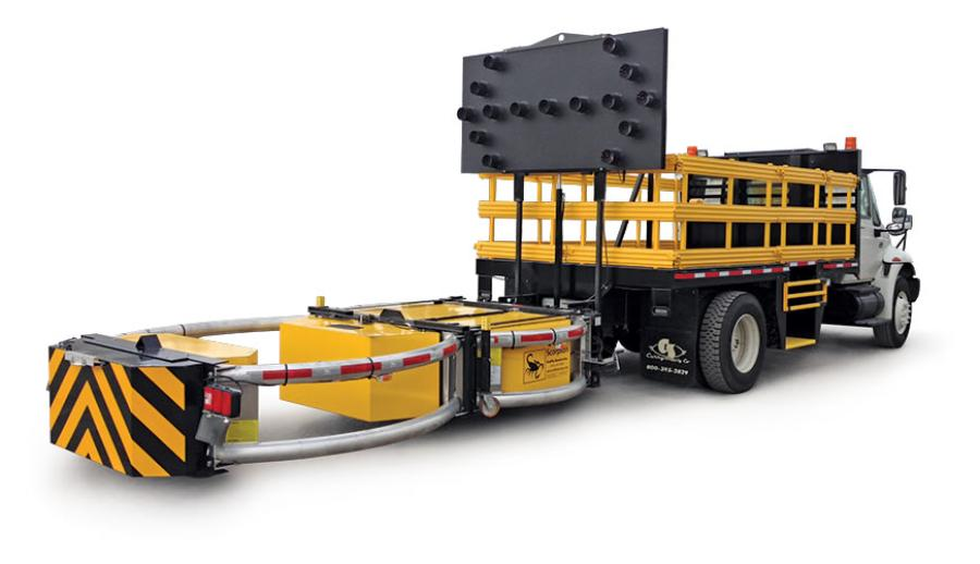 The attenuator device is crash rated up to 65 mph, which meets all federal and state regulations for impact.