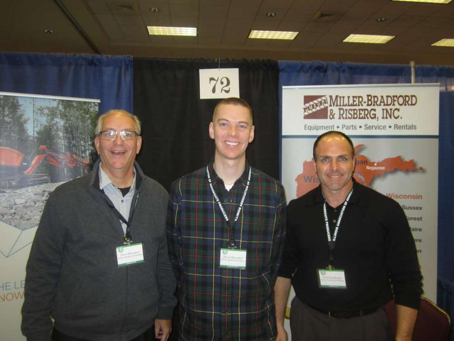 (L-R): Dave and Devan Bawinkel and Todd Kundinger, all of Miller-Bradford & Risberg, are happy to show all of the product lines the company represents.