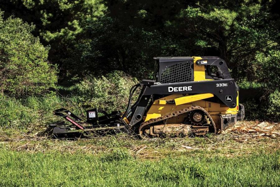 The extreme duty brush cutter (RS72) is the latest addition to the ever-expanding lineup of Worksite Pro attachments and is optimized to work with select John Deere E- and D-Series skid steers, compact track loaders (CTLs).