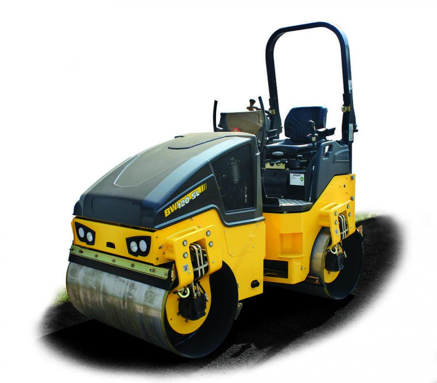 Offering high 4,320 vpm (72 Hz) vibration frequency, the BOMAG BW120SL-5 tandem vibratory roller features Intelligent Vibration Control (IVC) to increase compaction efficiency.