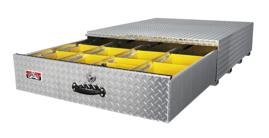 Unique Truck Accessories, Sturgis, Mich., designed a heavy duty drawer roller box in early 2015, based on demand from contractors who needed a floor box but also wanted to save every pound of payload possible.