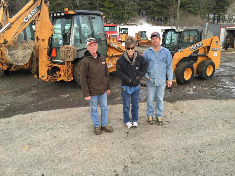 "(L-R): Monte, Donna and their son, Monte, or ""Boogie"" as he is better known, started the company with a Case backhoe and have relied on Case Equipment through the years."