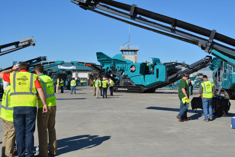 A great crowd was on hand for the all-day event to celebrate Powerscreen of California & Hawaii's 30th Anniversary.