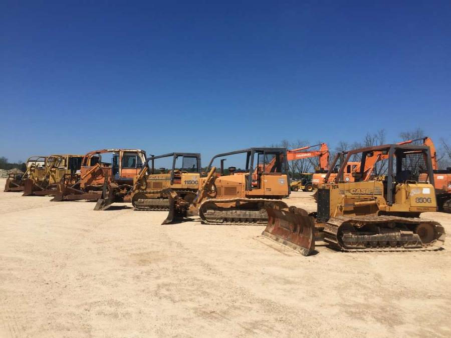 This line of Crawler Tractors were a huge featured item in the Absolute Truck & Equipment Public Auction.