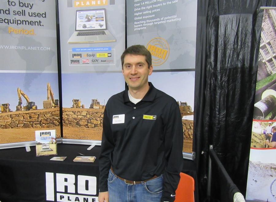 IronPlanet's Chris Owens spoke with attendees about converting their yellow iron to green.