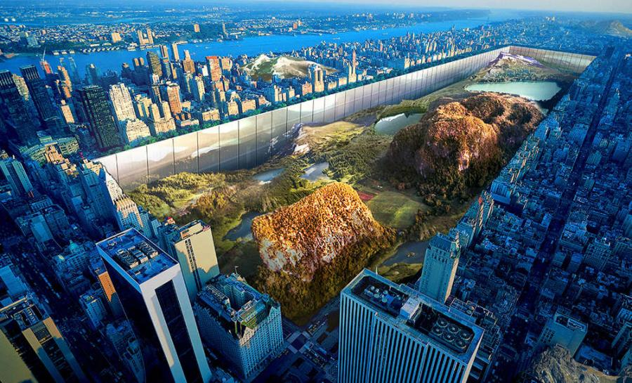 The winner of a recent Skyscraper Competition proposes a radical change to the shape of Manhattan.