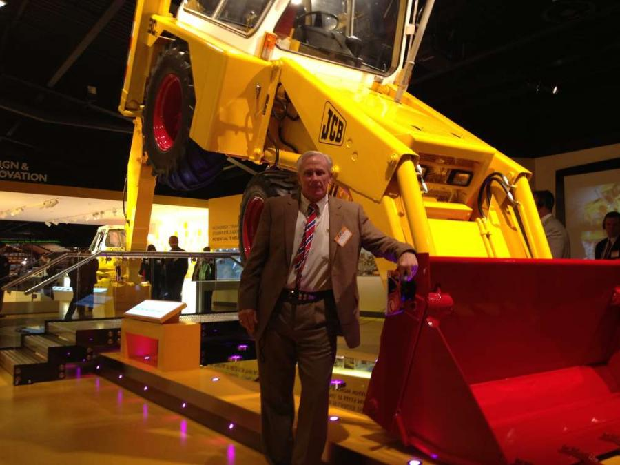 James Cox, president of Casey Equipment and JCB of Chicago.