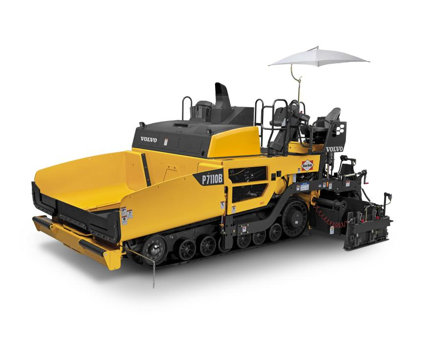 The P7110B tracked paver and P7170B wheeled paver from Volvo Construction Equipment offer 360-degree visibility, improved fuel efficiency with more than 12 hours of continuous run time without refueling, and new options to enhance productivity and mat quality.