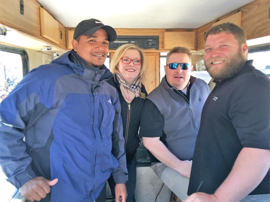 (L-R) are Joseph Pelaez, Jennifer Upton, T.J. Frejie and Kevin McGee, Martin & Martin Auctioneers.