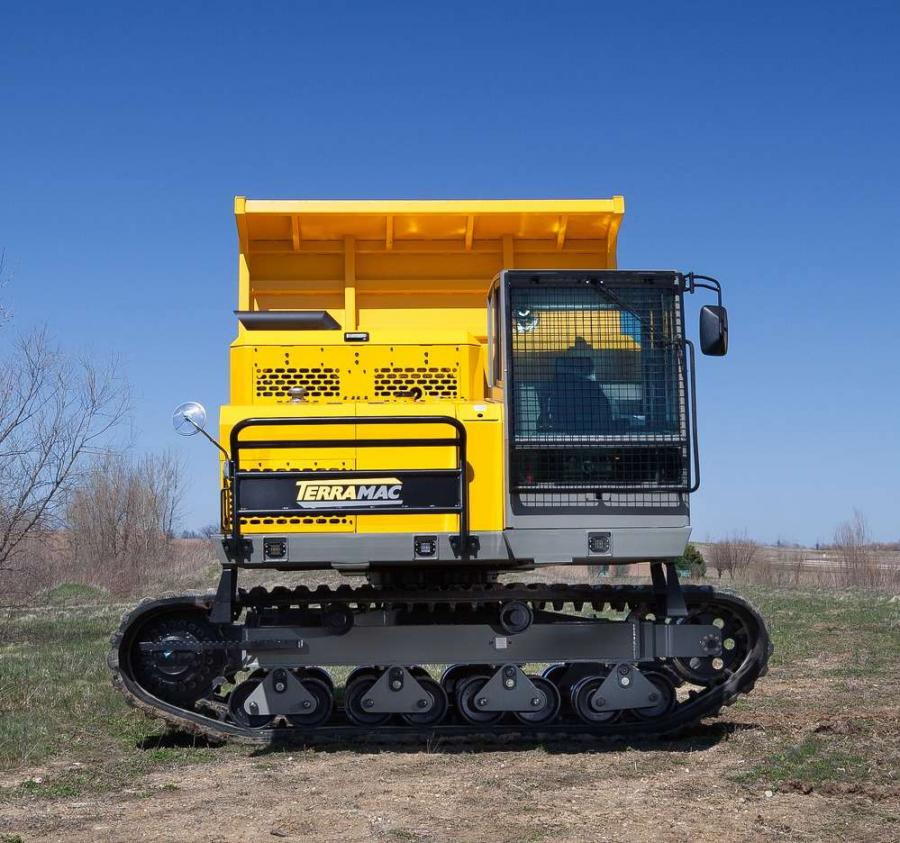 The new Terramac RT14R crawler carrier is equipped with a rotating upper frame to provide superior productivity and reduced cycle times.