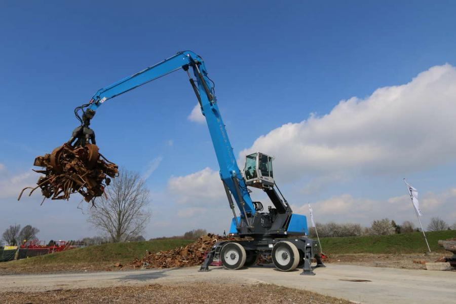 The new Fuchs MHL370 F material handler expands the Fuchs product line and marks an entry in the 120,000-lb (55 mt) class of high capacity machines.