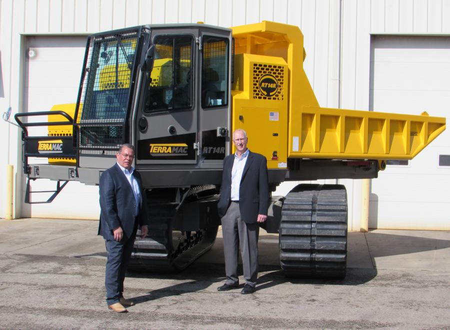 Terramac has partnered with its North American dealer network to launch a tow and show for its new 360-degree rotating unit, the RT14R.
