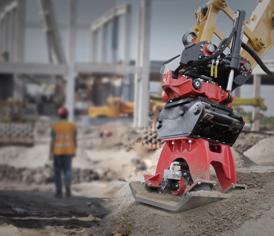 Rototilt's hydraulic compactors can be mounted on a Rototilt quick coupler or attached directly to the excavator or backhoe.