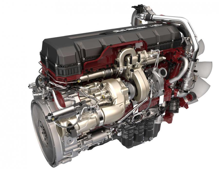 Mack Trucks revealed the next step in the evolution of its integrated powertrain by introducing its 2017 Mack® MP® series engines, bringing significant improvements in fuel efficiency, power and performance, while reducing greenhouse gas emissions. Several updates and improvements were made to the engines, including the addition of turbo compounding to the Mack MP8 (pictured), resulting in a 2.1 to 8.8 percent boost in fuel efficiency.