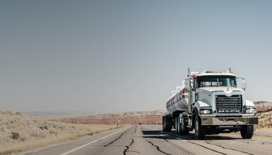 Mack Predictive Cruise maintains vehicle speed, utilizing kinetic energy and softly applying the engine brake.