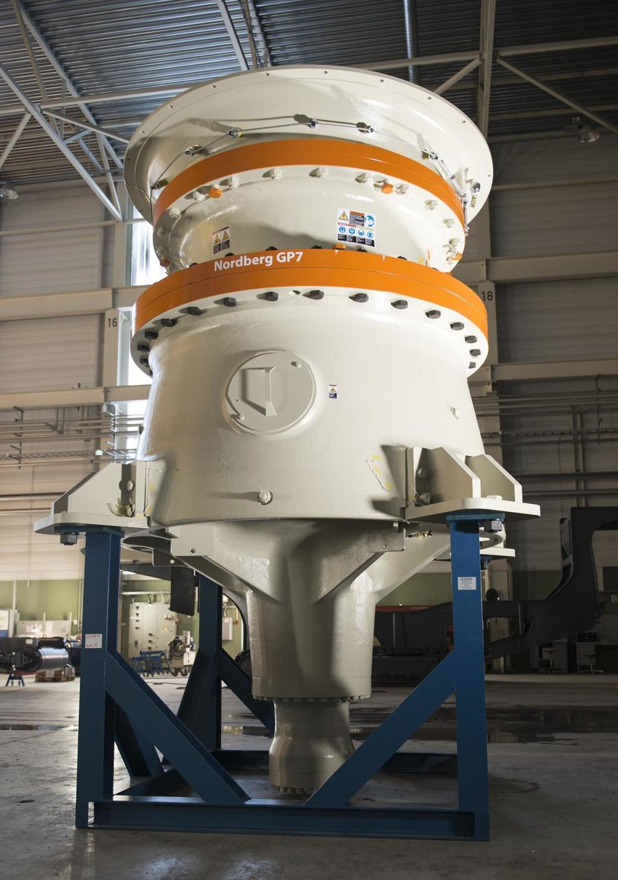 Metso continues to expand its range of high capacity crushers by launching the Nordberg GP7, its largest Nordberg GP secondary gyratory crusher to date.