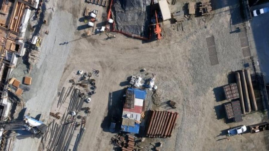Image courtesy of Skycatch.  Instead of men in high-visibility jackets and hard hats, there are going to be drones buzzing overhead, robotic bulldozers and 3D printers churning out new structures.