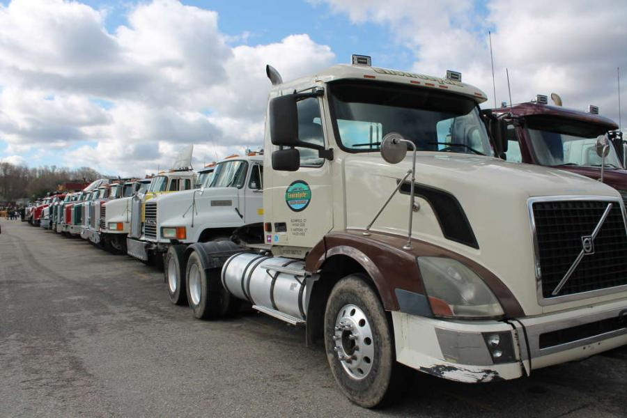 The sale featured an extensive fleet of heavy-duty trucks.