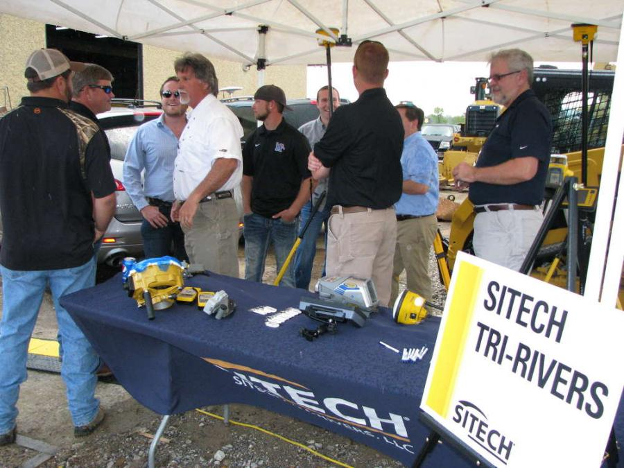 The Sitech Tri-Rivers exhibit was packed with attendees looking for more information on Trimble and Accugrade grade-control products.