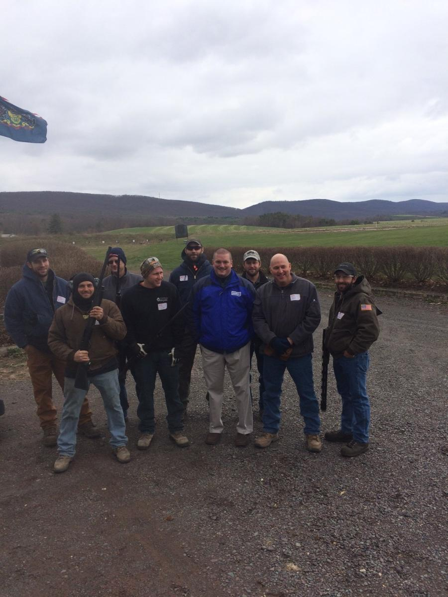 Territory Manager Joe Rick is pictured with the crew from Mobile Aggregate Recycling Services Inc.