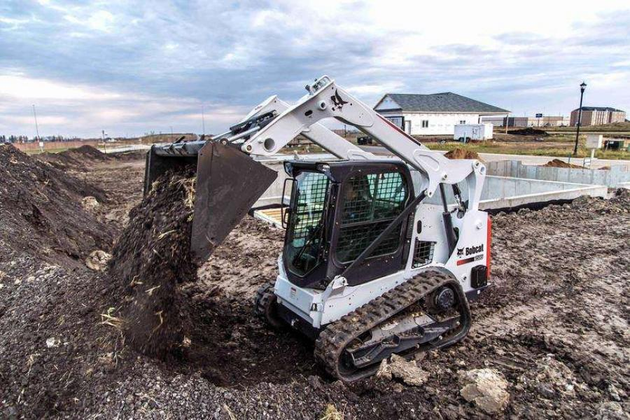 The new 74-horsepower Bobcat T595 compact track loader features increased horsepower and performance for pushing or digging applications.
