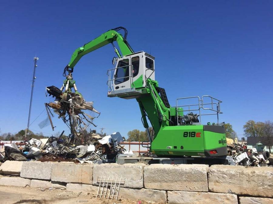 This Green Efficiency 818 M E-Series is used on a Sennebogen grapple to maximize its productivity.