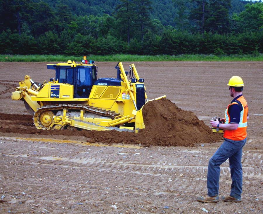 Radio control, big dozer productivity and rough-cut-to-finish-grade automated efficiency.