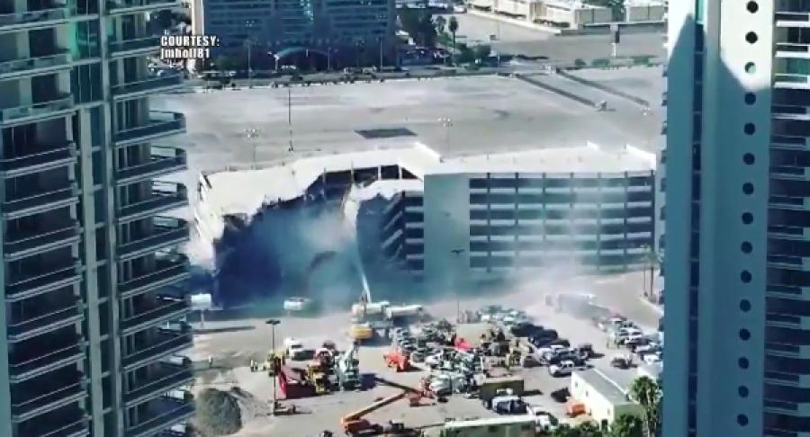 Demolition crews rolled in on May 12 to begin dismantling the Riviera Hotel and Casino.