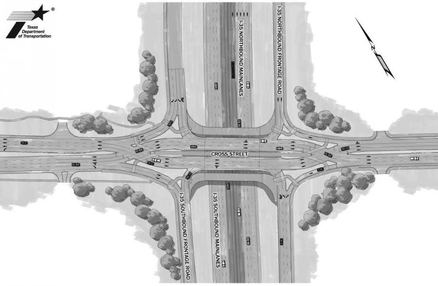 TxDOT has had the opportunity to run some metrics on how the area's first diverging diamond intersection is performing, and the results are promising.