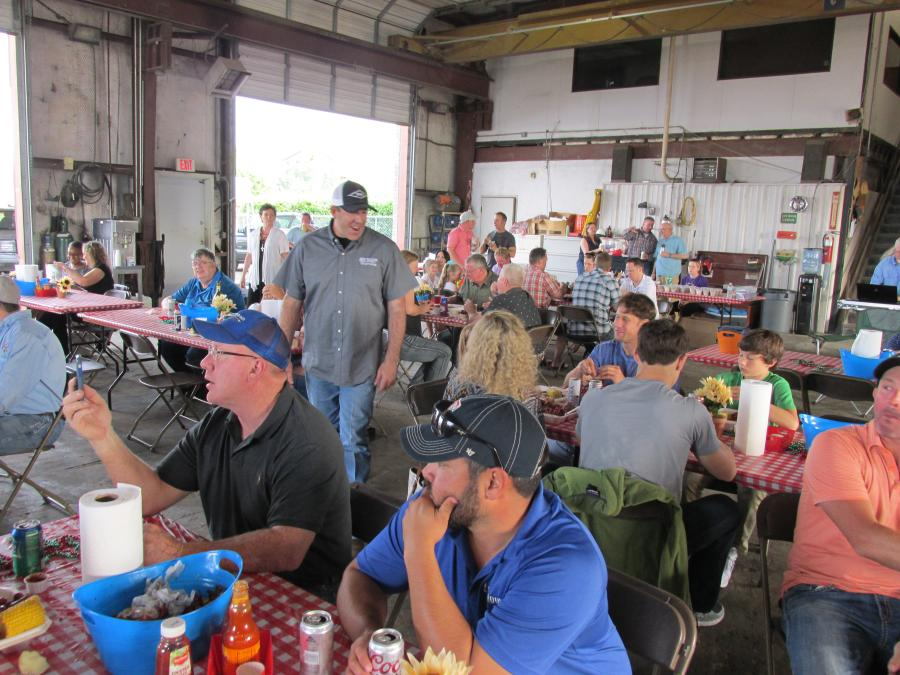 Customers enjoyed crawfish and shrimp and helped raise money for a good cause.