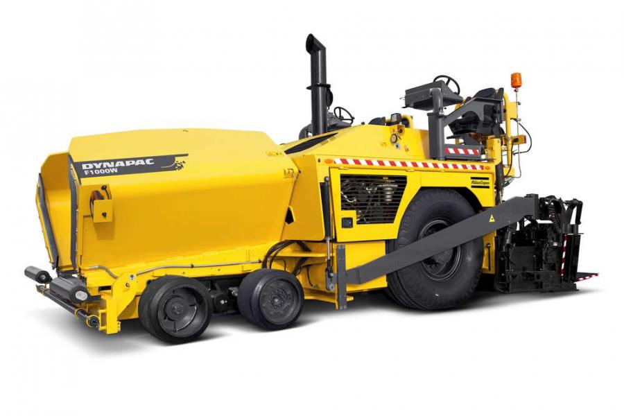 Atlas Copco's outboard auger drive system is ideal for paving wide roads and for normal speed paving applications.