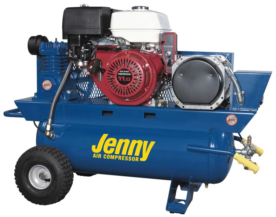 "The J11HGA-30P includes a 30-gal. (113 L) air tank and features a belt driven ""J"" pump, which is a single-stage, four-cylinder pump with a high compression ratio for producing maximum air flow."