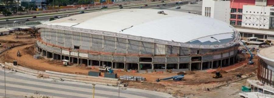 The Rio de Janeiro Olympic venue facing the most serious construction delay has hit another snag,