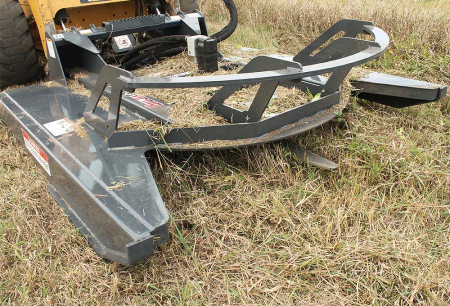 Virnig Manufacturing's V40 open front skid steer brush cutter attachment is designed to rough-cut dense brush and trees up to 3 in. (7.6 cm) in diameter.