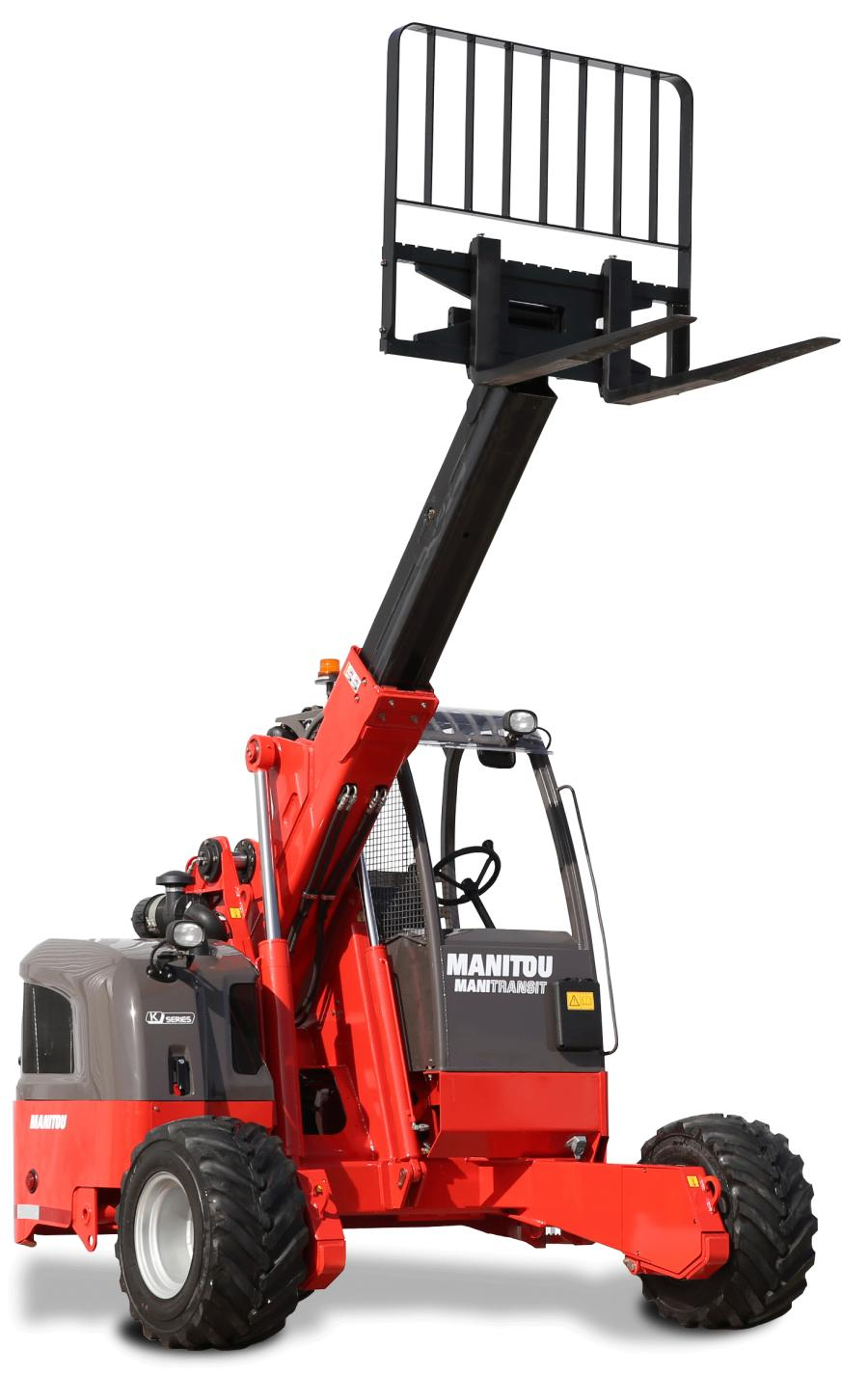 "While most truck mounted forklifts are designed with a mast, the Manitou TMT 55 is patented as a ""free lift"" forklift, providing telescopic extension up to 4' 10"" (1.47 m)."