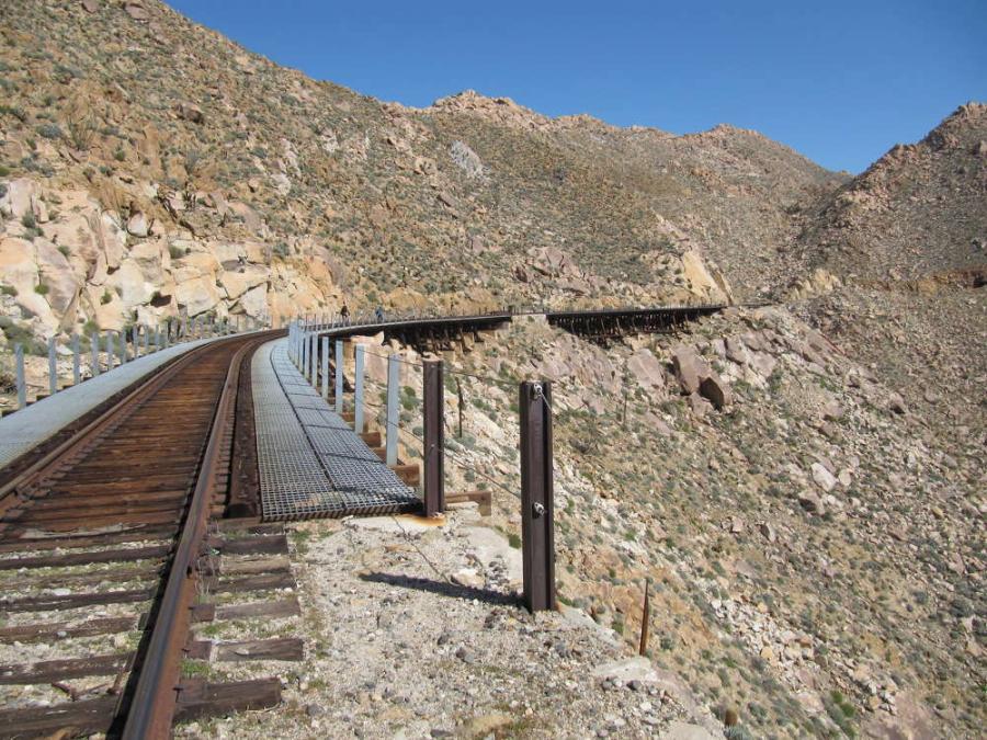 Image courtesy of Wikipedia.  The new contract calls for Baja Rail to sublease the old Desert Line from PIR.