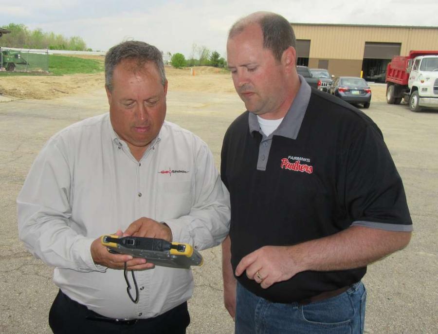 Steve Hatfield of GeoShack reviews Topcon's new FC500 field controller with Chris Winkle of Gandee Heydinger Group.