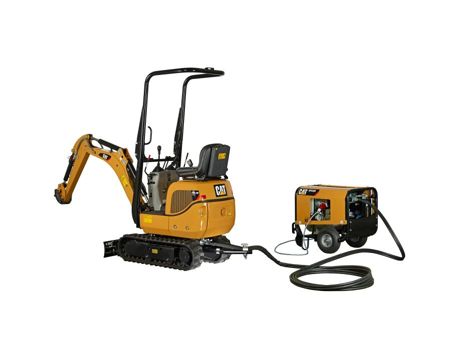 Caterpillar has added the model 300.9D VPS (Versatile Power System) to the Cat range of mini-hydraulic excavators.