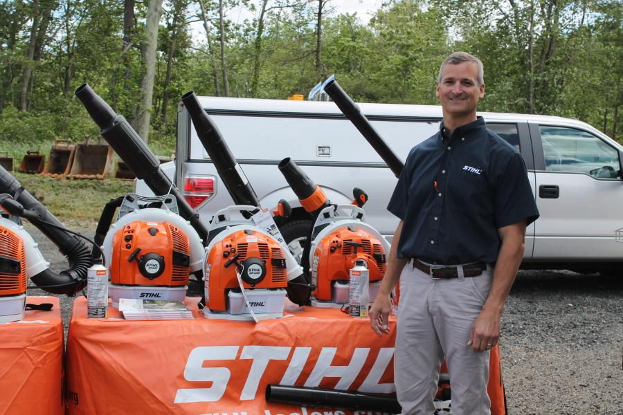 John Muller, territory manager of STIHL, is available to answer questions on the BR 430 backpack blower.