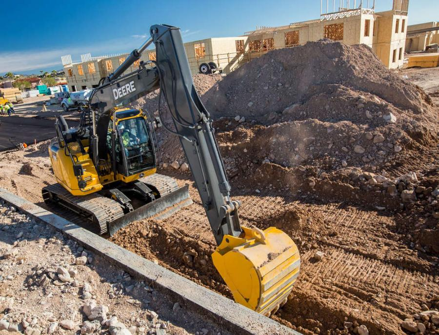 The John Deere excavator lineup continues its transformation with the updating of the 135G and 245G LC reduced-tail-swing excavators.