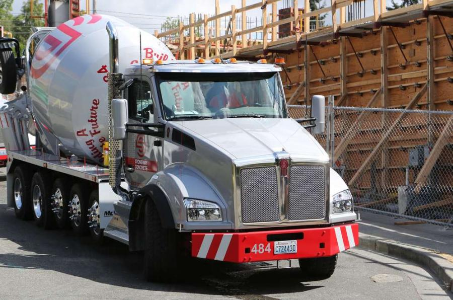 TruckPR photo Stoneway Concrete's Kenworth T880 features the Allison 7-speed automatic transmission. Allison's dynamic shift sensing allows the transmission to automatically choose gears based on the vehicle's weight and the road grade.