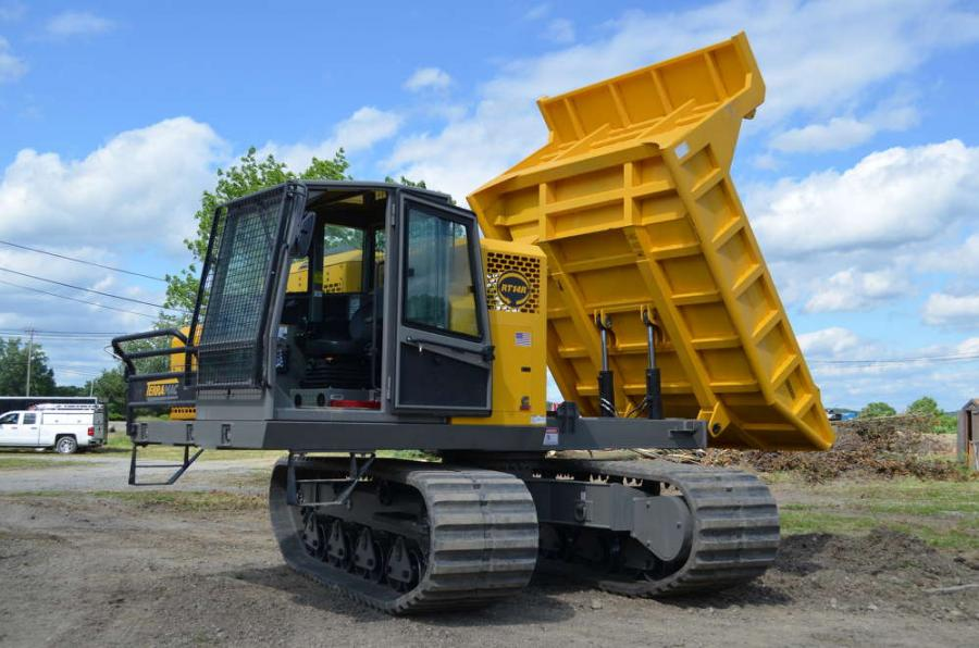 The new Terramac RT14R rotating crawler carrier is designed to work in the most sensitive and confined job sites with a complete 360-degree rotation. The RT14R can offload materials at any angle and on the go for increased efficiency. The full rotation also allows operators to travel in a forward facing position, which reduces fatigue and increases safety. The rugged upper frame of the RT14R provides a 28,000 lb. carrying capacity.