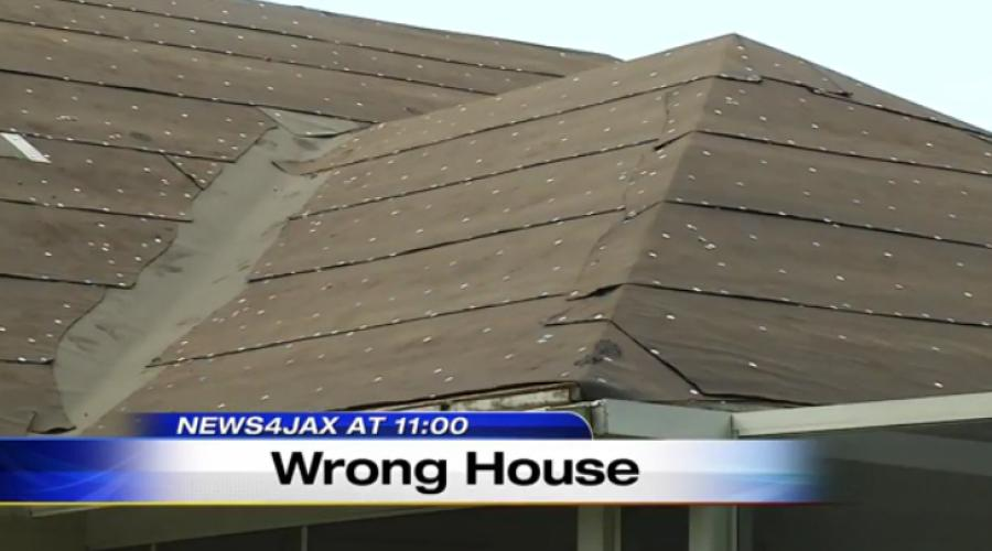 According to K&G Construction Company's attorney, the person who hired the roofers gave the wrong address.