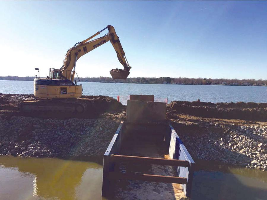 The Buckeye Lake Dam, part of the Buckeye Lake State Park, is undergoing a $110 million rebuild that was awarded to ASI constructors Inc., with design-related services being provided by Gannett Fleming Inc.