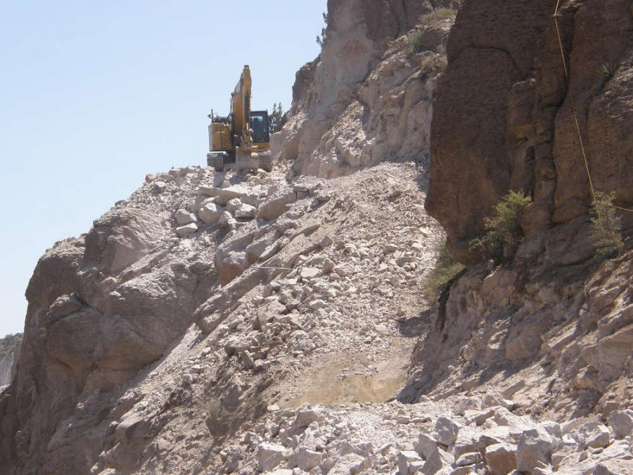 Steep, rugged terrain and high winds have added challenges for crews working to create room for an additional lane on U.S. 60 between Globe and Superior.