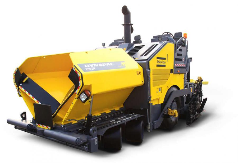 Atlas Copco's new Dynapac F800W wheeled paver offers operators high maneuverability and mat quality as well as optimal visibility.